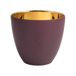 &k theelicht winter gold plum large