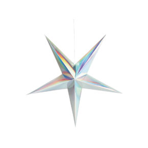 &k Paper star holographic 90cm