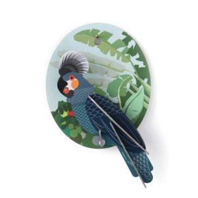 SR wall deco grey parrot