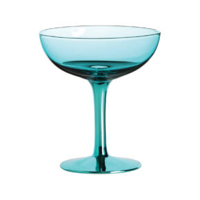 &k set 2 champagne coupe blauw