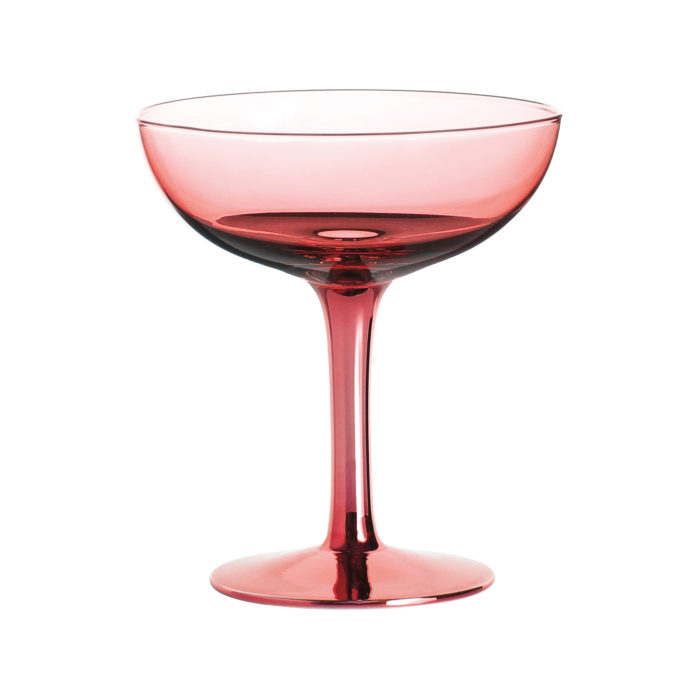 &k set 2 champagne coupe roze