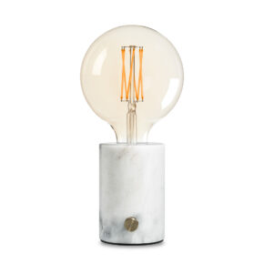 EH Orbis lamp white marble